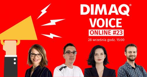 Pierwszy DIMAQ Voice Online po wakacyjnej przerwie