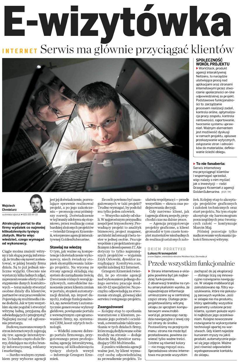 Grzegorz Krzemień GoldenSubmarine Puls Biznesu