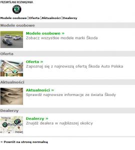 Mobilny serwis m.skoda-auto.pl
