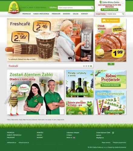 Strona www Żabki