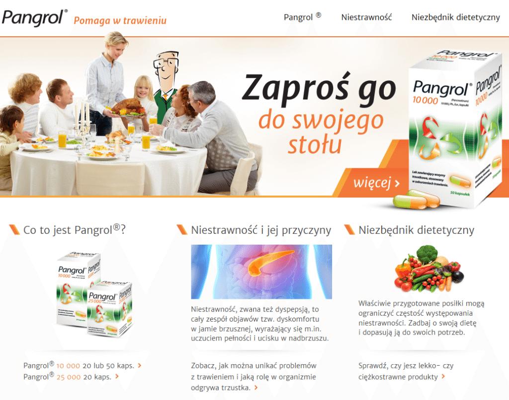 koncepcja obecności marki Pangrol
