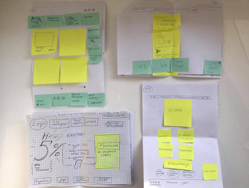 Brief na serwis www cz. 2 – struktura, makiety