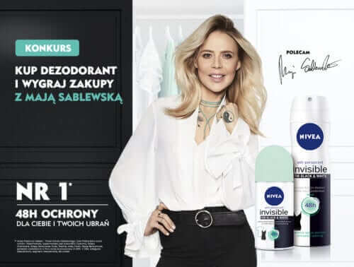 Kampania Nivea Invisible Black&White Fresh