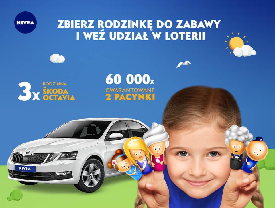 Loteria NIVEA – Zbierz rodzinkę do zabawy