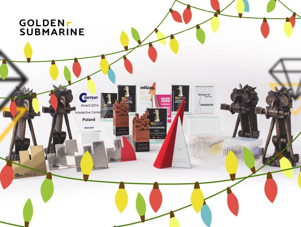 Premiera świątecznej iluminacji GoldenSubmarine