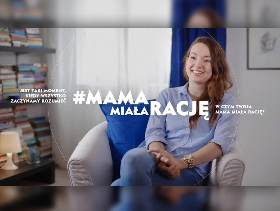 Kampania wizerunkowa marki NIVEA #MamaMiałaRację