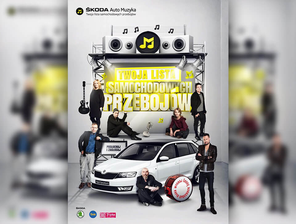 Muzyka do jazdy samochodem konkurs ŠKODA Auto Muzyka