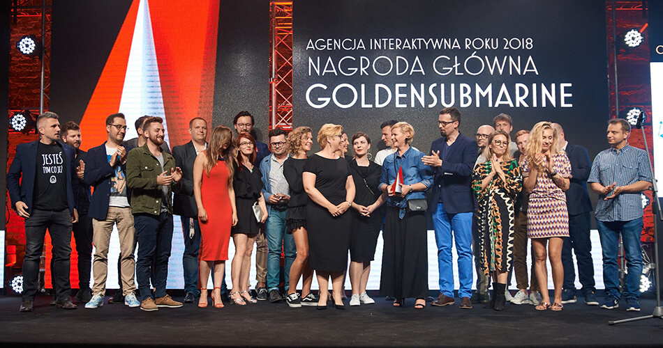 GoldenSubmarine – Agency of the Year 2018, 2017, 2013