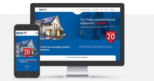 Strona internetowa dla marki DEVI