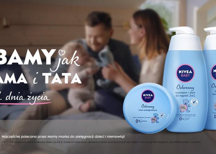 Kampania NIVEA BABY – w rolach głównych Mama i Tata