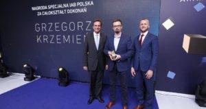 Grzegorz Krzemień z nagrodą IAB za całokształt dokonań