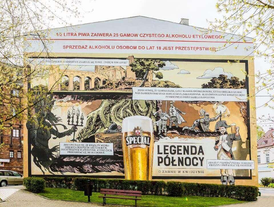 Legenda Północy mural