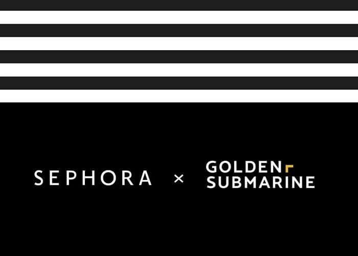 GoldenSubmarine z siecią Sephora w social mediach